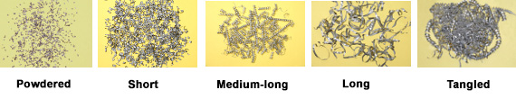 screw system suitable for transporting any morphology of metallic chip