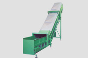 T100S Conveyor with heavy frame, side guards and protection on rump.
