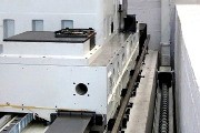Conveyor screw on milling machine.